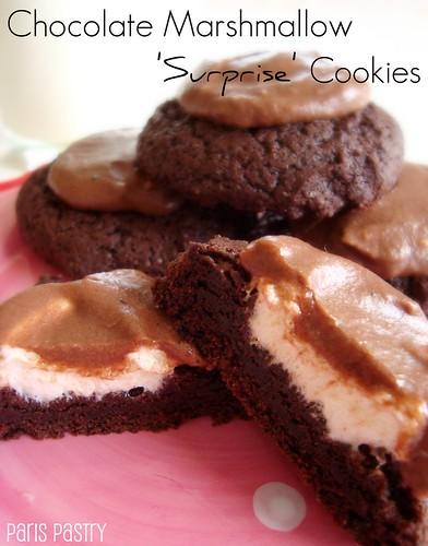 巧克力棉花糖惊喜饼干