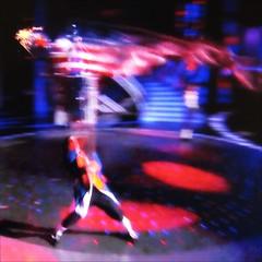 American (Dom Guillochon) Tags: blue light usa abstract art colors fun tv movement blurry unitedstates sandiego couleurs lol flag americanflag american redwhiteandblue colori hdtv flou viziohdtv blurrism domguillochon capturingmovementonmyhdtvscreen