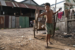 Steung Meanchey, Cambodia - Siha (Mio Cade) Tags: poverty school boy work kid education cambodia child labor poor cement mother son social study labour cart tough phnom scavenger penh sponsorship steung meanchey siha