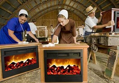 amish fireplace