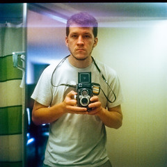 Self-Portrait with Camera in a Bathroom I don't remember (thp365) Tags: selfportrait film me yashica