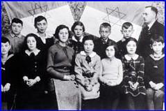 Willy Wertheimer's students including his daughter Ruth in Buchen at Hanukkah (Center for Jewish History, NYC) Tags: hanukah lbi hanukkah buchen hainstadt hardheim leobaeckinstitute wallduern williwertheimer