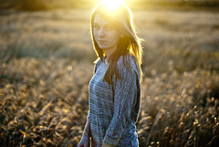 You gotta keep your head up than you get to let your hair down. (wakeupbaylee) Tags: flowers sunset portrait sun girl smile field sunshine sunrise outside outdoors nikon pretty sunny d200 wheatfield wakeupbaylee
