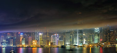 Surreal Victoria Harbour ([~Bryan~]) Tags: night hongkong fireworks smoke surreal ifc victoriaharbour gettyimageshongkongmacauq1