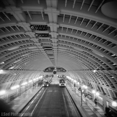 [1-20-2011] - Transit Tunnel (J.Sod) Tags: seattle people bus film station holga lomo waiting downtown metro library toycamera lofi rail tunnel delta architect transit 365 lightrail holga120 ilford ilforddelta400 pioneersquare commuters riders centrallibrary downtownseattle blackandwhitephotography metrobus soundtransit kingcountymetro filmphotography passangers ilforddelta ilforddelta400pro seattlebustunnel project365 transitstation linklightrail pioneersquarestation downtownseattletransittunnel kateericson photographysquared soundtransitbus jerrymcdevitt