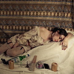 Week 5 - The Courtesan Asleep [Explored] (Ana Lusa Pinto [Luminous Photography]) Tags: red woman painting candle 5 eiffeltower senegal lipstick asleep luminous lu 52 manet toulouselautrec courtesan 552 week5 titian 52weeks caravaggion sleepold