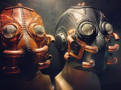 """The Aquasect"" #steampunkmask #leathermask #aquasect (tovlade) Tags: face mask cyberpunk cyber goth make up goggles girl punk postapocalyptic postapocalypse black steampunk leather hand made larp cybergoth dieselpunk plague doctor"