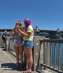 Selfies (swong95765) Tags: people selfie ladies woman females pictures river hair scenic
