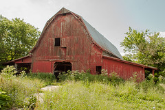 Red Barn (Back Road Photography (Kevin W. Jerrell)) Tags: backroadphotography barns oldbarns oldbuildings nikond60 chuckey tennessee greenecounty daysgoneby redbarns country ruralscenes ruralphotography rural countryroads farms farmlife