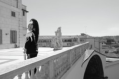 The Cuirassier (ianflagg) Tags: quirinale gardens guard curassier rome italy monochrome europe bw black blackwhite blackandwhite ancient city president skyline 2nd june italian national day