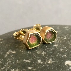 Watermelon Tourmaline 18k
