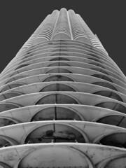 Marina City, Chicago, Illinois (duaneschermerhorn) Tags: architecture building skyscraper structure highrise architect modern contemporary modernarchitecture contemporaryarchitecture chicago illinois unitedstates usa black white blackandwhite blackwhite bw urban