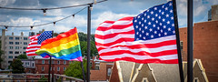 2017.07.02 Rainbow and US Flags Flying Washington, DC USA 7194
