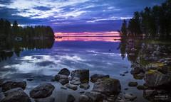 Häikänniemi sunset_66A6440 (>>Marko<<) Tags: häikänniemi joensuu kontiolahti suomi finland pohjoiskarjala ranta höytiäinen järvi kivikko kivi auringonlasku taivas pilvi horisontti lake sunset rock water cloud colorfull