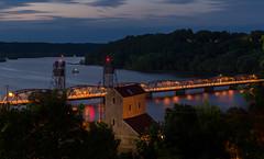 Historic Stillwater (Paul Domsten) Tags: stillwater minnesota stcroixriver longexposure bluehour pentax river bridge stillwaterliftbridge clouds