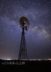 Solar Power (Ben Canales) Tags: longexposure windmill night oregon stars star twilight alternativeenergy galaxy prairie columbiagorge starry cosmos windfarm windpower milkyway bencanales thestartrail thestartrailcom wwwthestartrailcom