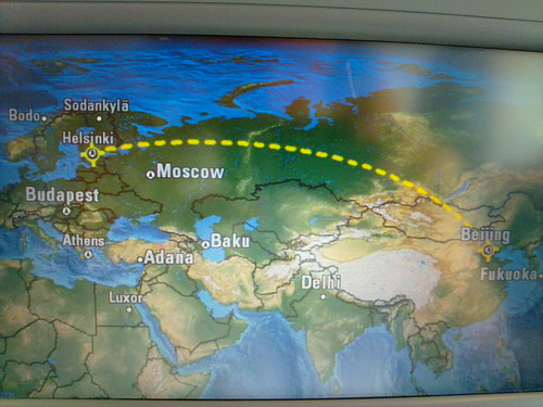 Route from Beijing to Helsinki