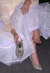 Me, feet, toes, bare, foot, shoes, white lingerie. (Sugarbarre2) Tags: show city wedding people urban woman usa baby