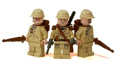 Japanese Commander & Infantry (*Nobodycares*) Tags: japanese lego wwii worldwarii ww2 guns powers katana axis commander worldwar2 japs brickarms minifigcat