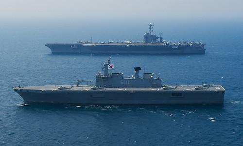 フリー写真素材, 乗り物, 船・船舶, 軍用船, 独島級揚陸艦 (LPH ), ジョージ・ワシントン (CVN-), 航空母艦, 韓国軍, アメリカ海軍,