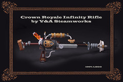 Crown Royale Infinity Rifle by V&A Steamworks (V&A Steamworks) Tags: gun lego lounge rifle va laser builders etsy steamworks raygun steampunk moc blunderbuss