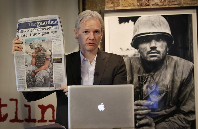 Julian Assange of WikiLeaks at Press Conference on Afghanistan War Diary Leaks