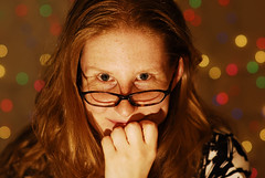 diamond sea (monkberry moon) Tags: glasses sara photoshoot bokeh redhead daslook