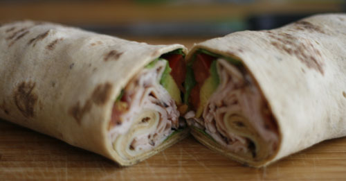 California Turkey Club Wrap Recipe