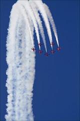 Red Arrows, Royal Air Force Aerobatic Team (David IFA) Tags: england sky plane canon europe aircraft aviation military airshow 7d redarrows militaryaviation riat canonef70200mmf4lusm