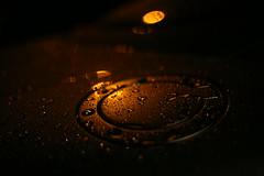 Light Rain 6 (MarkyBon) Tags: light abstract reflection water lines car rain metal bronze droplets streetlight glow nocturnal steel curves utata tt audi funographygallery utata:entry=6 utata:project=nocturnallights