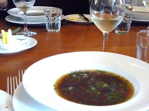 Anatolian-style lentil broth