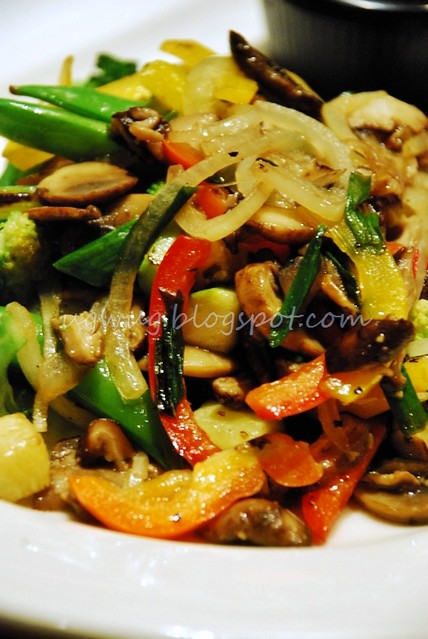 Wok stirred vegetables