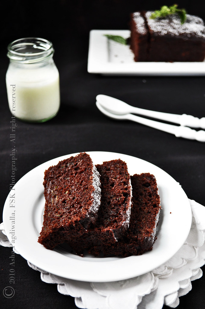 Zucchini (basil) Chocolate loaf Sliced (Warm)