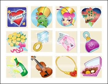 free Love Bugs slot game symbols