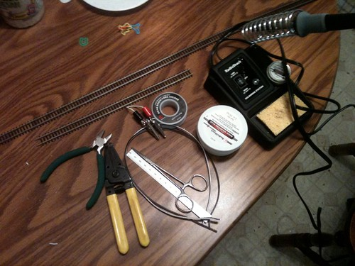 Tools for soldering feeder wires