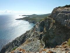 Crête de Cima di a Campana : la côte vers l'E jusqu'à Finocchiarola