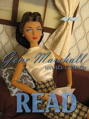 Gene wants you to Read. (waterfallfaerie) Tags: doll gene fashiondoll melodom calendarshot jasonwu genemarshall genemarshallcollection