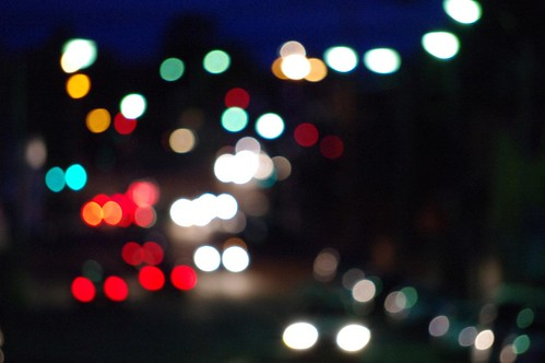Out of Focus Colourful Urban Lighting Bokeh