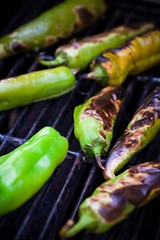 Produce - Summer _ Roasting Hatch Green Chilie (dgilder) Tags: chile food newmexico green mexicanfood delicious peppers produce hatch smoky agriculture roasting hotpeppers hatchchile chilepeppers greenchile greenchilesauce fireroasted foodingredients