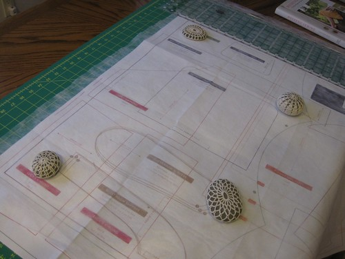 pattern tracing with crochet rocks