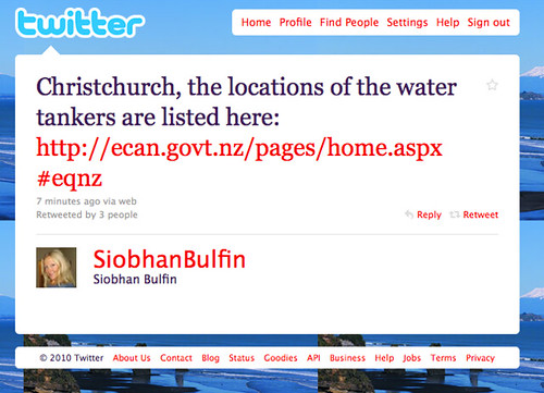 Example of a usable #eqnz tweet