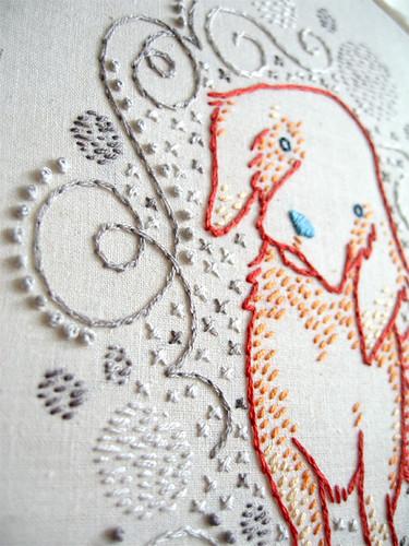 Orange puppy w/swirls detail