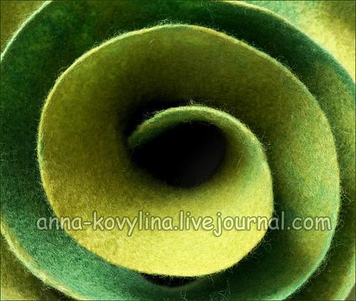 Мастер-класс по мокрому валянию: Капустный шарфик (шарф с воланами) с...