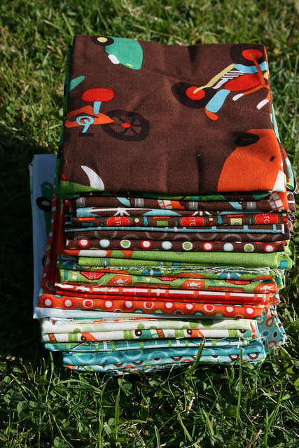 A bundle of new fabrics