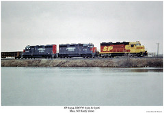 SP 6354, DMVW 6315 & 6306 (Robert W. Thomson) Tags: railroad max train diesel railway trains sp northdakota locomotive kodachrome trainengine southernpacific geep espee emd spsf gp35 fouraxle dmvw dakotamissourivalleywestern gp35r