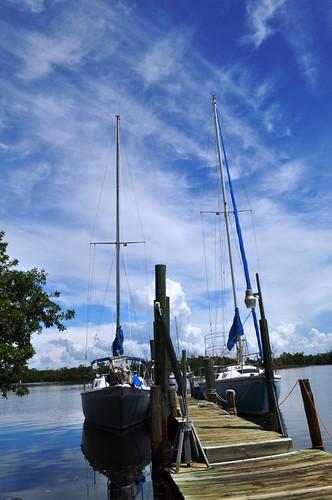 Sail Boats at Whidden's Marina, Boca Grande, Fla.