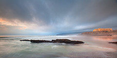 Beauty and the beast... ([ o g u h ]) Tags: ocean sunset storm beach portugal nature clouds pnsc ilustrarportugal