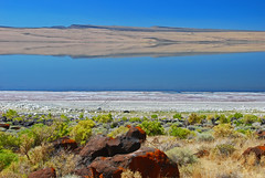 Alkali Lake (LeftCoastKenny) Tags: lake reflection oregon nikon nikkor 18200vr d80 alkalilake