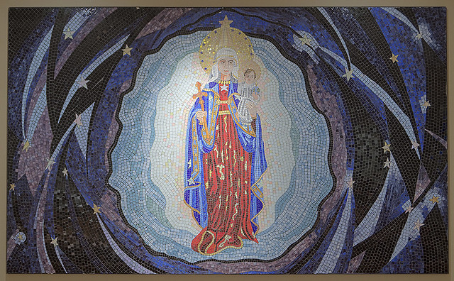 Christian Brothers College High School, in Town and Country, Missouri, USA - mosaic of Our Lady of the Star, in the chapel