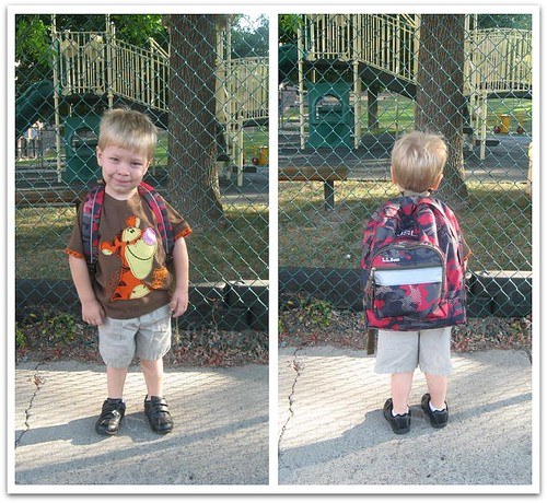 Nursery school here he comes